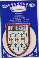 AUTOCOLLANT ADHESIF  DOUBLE FACE NEM  BLASON ECUSSON CONCARNEAU - Autocollants