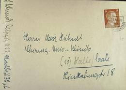 DR: Doppel-Brief Mit 24 Pf Hitler EF Aus Leipzig Vom X.1.1945 Nach Halle (Saale) Knr: 792 - Briefe U. Dokumente