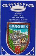 AUTOCOLLANT ADHESIF  DOUBLE FACE NEM  BLASON ECUSSON CONQUES - Stickers