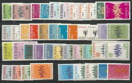 43 Stamps DIFFERENT - Europa-CEPT - MNH - Art - 1972 - Europa-CEPT