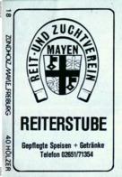 10 Alte Gasthausetiketten Reiterstube Reit- Und Zuchtverein Mayen #147 - Zündholzschachteletiketten