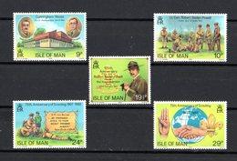 Isola Di MAN :  75° Anniv. Dei Boy Scout  -  5  Val.  MNH**  Del   23.02.1982 - Isola Di Man