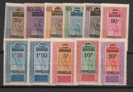 Soudan - 1922-27 - N°Yv. 42 à 52 - Série Complète - Neuf Luxe ** / MNH / Postfrisch - Soudan (1894-1902)