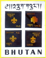 BHUTAN Unissued 1973 SCOUTS Stamps Souvenir Sheet; UNUSUAL W/ Liquid Crystals SCARCE - Bhután
