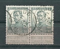 115 Gestempeld In Paar THIELRODE - COBA 16 Euro - 1912 Pellens