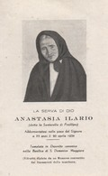 490 Santino Antico Serva Di Dio Anastasia Ilario - Religion & Esotérisme