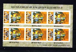 GRENADA  GRENADINES     1977    Silver  Jubilee    Booklet  Pane  Of  6    MNH - Grenada (1974-...)