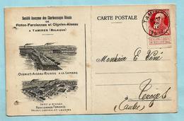 N°74 Op Postkaart Charbonnages Roton-Farciennes Et Oignies-Aiseau, Afst. TAMINES 16/04/1912 - 1905 Grosse Barbe