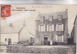 CPA - 56 - SAINT-PIERRE-de-QUIBERON- KERHOSTIN - RESTAURANT PENTHIEVRE Voyagée En 1910 Bel état - France