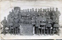 Carte Photo De Deux Section De Soldat Francais Avec Leurs Officiers Au Camp De Carpiagne En 1927 - War, Military