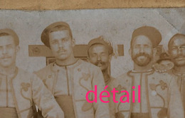 Photo Cartonnée-zouaves - Oorlog, Militair