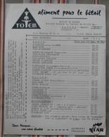 51 Moulin De PLEURS  Tarif Aliment Pour Le Betail TOTEM  STAR 1963 - Agriculture