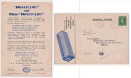 "GBS18506 GB 1944 P.T.P.O. Advertising ""Novacrysin"" Photo Postcard Printed Matter - To Egypt - 1902-1951 (Könige)"