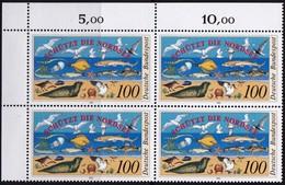 """BRD, 1990 Nr. 1454 **,  Viererblock Mit ER Oben Links, """"Internationale Nordseeschutz-Konferenz"""" - Nuovi"""