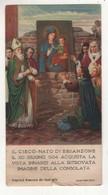Santino Antico Madonna Della Consolata Da Torino Miracolo Del Cieco - Religion & Esotérisme