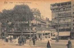 Belgium Liege Le Boulevard D'Avroy Cinema Royal Postcard - Belgique