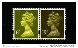 GREAT BRITAIN - 1994  MACHIN  6p. 2B+19p. LB  LITHO QUESTA  PAIR MINT NH  SG Y1766+Y1771 - 1952-.... (Elizabeth II)