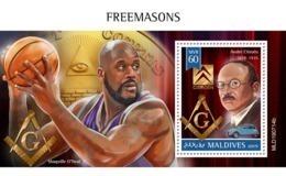 MALDIVES 2019 - A. Citroen, Freemasons S/S Official Issue - Automobili