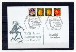 BRD, 2009, Karte (echt Gelaufen) Mit Michel 2480, 2484 (2x), 2471  Und Sonderstempel, Rattenfänger/Hameln - [7] Federal Republic