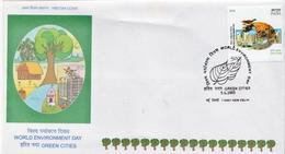 India Stamp On FDC - Milieubescherming & Klimaat