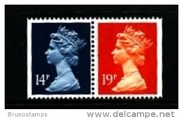 GREAT BRITAIN - 1988  MACHIN  14p.+19p.  PAIR IMPERF. SIDES   MINT NH  SG X904+X956 - 1952-.... (Elizabeth II)