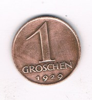 1 GROSCHEN 1929 OOSTENRIJK /9035/ - Oostenrijk