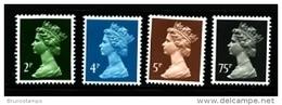 GREAT BRITAIN - 1988  MACHIN  SET (2p+4p+5p+75p)  MINT NH - Machins