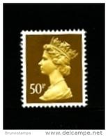 GREAT BRITAIN - 1990  MACHIN  50p.  NO PHOSPHOR  MINT NH  SG  X993 - Machins