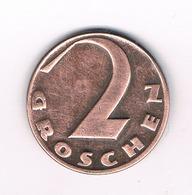 2 GROSCHEN 1935 OOSTENRIJK /9038/ - Oostenrijk