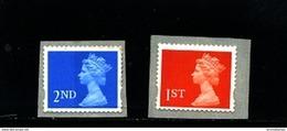 GREAT BRITAIN - 1997  MACHIN  1st+2nd CLASS SELF ADHESIVE  SET   MINT NH - 1952-.... (Elizabeth II)