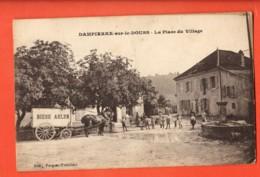 KAI-29  Dampierre-sur-le-Doubs  PLace Du Village. Attelage Bière Arlen, Fontaine, TRES ANIME. Circulé 1917 Sous Envelopp - Sonstige Gemeinden