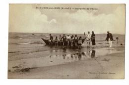 Saint Aubin Sur Mer - Barques De Pêche (animation, Vacanciers) Circulé 1926 - Francia