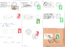 FRANCE '59 DUNKERQUE PETITE SYNTHE' 1978/1996  15 MARQUES POSTALES Et OBLITERATIONS - Marcophilie (Lettres)