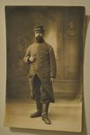 Militaria Carte Photo Souvenir Guerre Fontainebleau 46 Infanterie 30 Compagnie Photographe Libo - Characters