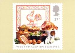 (A40-239) Carte Postale Viandes Meat Coq Rooster Huhn - Gallinacées & Faisans