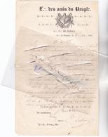 """95 - PONTOISE - FRANC-MACONNERIE - Loge De Pontoise """"Les Amis Du Peuple"""" Lettre Adressée à GISORS En 1856 Oblit Dép Et A - 1849-1876: Période Classique"""