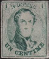 Belgie     .    OBP        .   9 (2 Scans)    .    (*)      .       Geen  Gom   .   /   .   Pas De Gomme - 1858-1862 Medaillons (9/12)