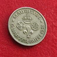 Mauritius 1/4 Quarter Rupee 1951 KM# 27 Mauricia Maurice - Mauricio