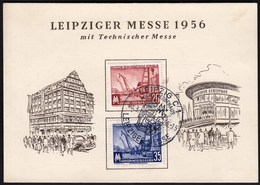 Germany Leipzig 1956 / Leipziger Messe, Fair - Altre Esposizioni Internazionali