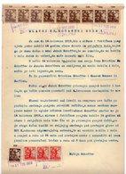 17.08.1919. KINGDOM OF SHS, ZEMUN,CROATIA, CROATIAN POSTAL STAMPS USED AS REVENUE - 1919-1929 Königreich Der Serben, Kroaten & Slowenen