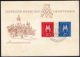 Germany Leipzig 1957 / Leipziger Messe, Fair - Wereldtentoonstellingen