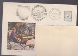 Miner Drilling In The Mine Cover Registered  Romania 1972 Special Postmark Congress International Mining Bucharest, - Mineralien
