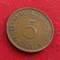 Mauritius 5 Cents 1963 KM# 34  Mauricia Maurice - Mauricio
