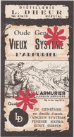 Distillerie / L. Dheur  'L'Armurier' Herstal - Vieux Système / Oude Genever. Belgique - Autres Collections