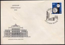 Germany DDR Leipzig 1970 / Leipziger Messe, Autumn Fair / Opernhaus, Post, Clock - Wereldtentoonstellingen