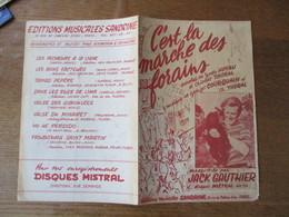 C'EST LE MARCHE DES FORAINS PAROLES DE YVETTE HOYAU ET CHARLES THORAL MUSIQUE DE GEORGES COURQUAIN ET CH.THORAL - Spartiti