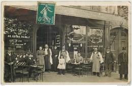 CPHP2    ERMONT  95    CARTE PHOTO  .MAISON CHABBERT  CAFE  ABSINTHE LIQUORISTE DE LA RENAISSANCE - Ermont