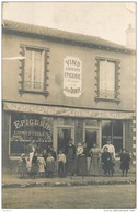 CPHP2   COEUILLY. 94  RARE  CARTE PHOTO . CAFE .CHOCOLAT  JULIEN  DAMOY ...GEORGES  Avenue Du Parc  /  Vins  épicerie - Frankrijk