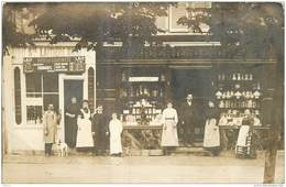 CPHP2   75 PARIS 09  Ste LAITIERE MAGGI  6 Bd CAPUCINES Fromages EPICERIE De CHOIX  Statues ... CARTE PHOTO  De  1900 - Arrondissement: 09