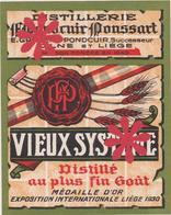Distillerie / Pondcuir Poussart 'Vieux Système / Olne Liège. Belgique. - Autres Collections